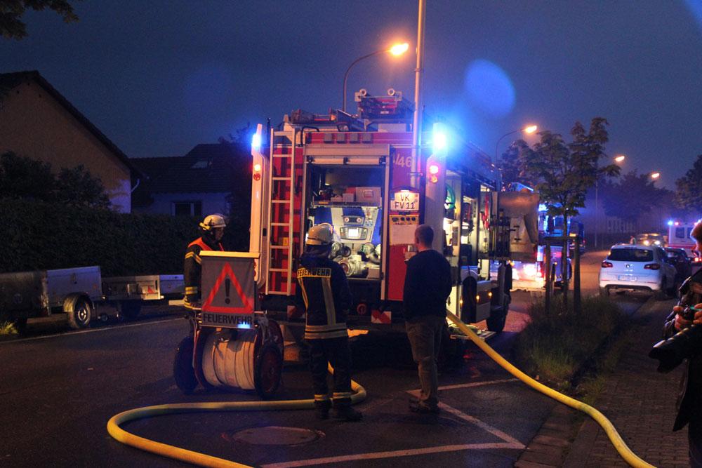 Ein Löschfahrzeug der Feuerwehr Völklingen (Foto: Hell)