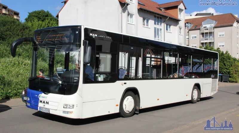 Ein Linien-Bus unterwegs in Völklingen (Symbolfoto: Hell)