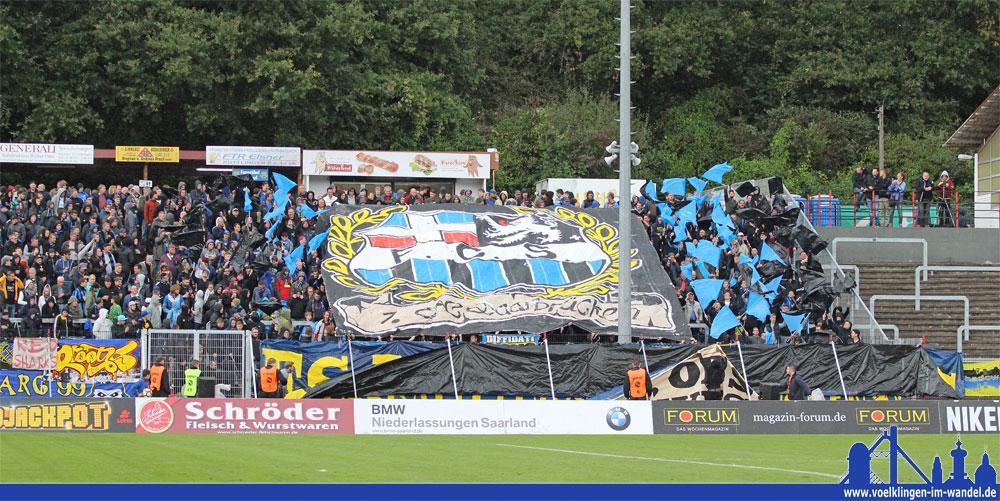 Choreografie der FCS Fans beim Einlauf der Mannschaften (Foto: Hell)