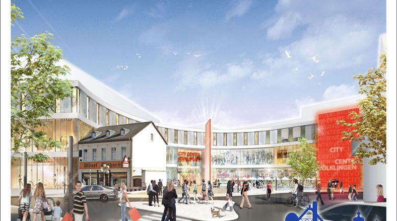 Ein weiteres Problem war eine nicht erstandene Immobilie - sie hätte (vorerst) vor dem geplanten Einkaufszentrum gestanden (Grafik: GWB, von VK-Wandel.de überarbeitet)