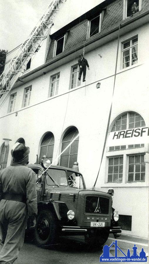 Diese DL 30 von Magirus-Deutz ersetzte die alte DL 22 und war bis 1992 in Völklingen Mitte im Dienst.