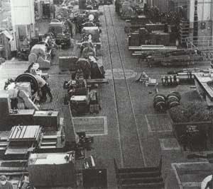Edelstahlbearbeitungswerkstatt um 1960. (Quelle: Saarstahl AG)