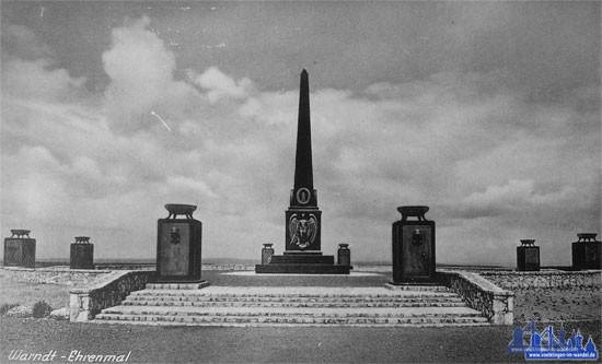 Das Warndt-Ehrenmal bei Ludweiler (Aus der Sammlung von Andreas Hell)