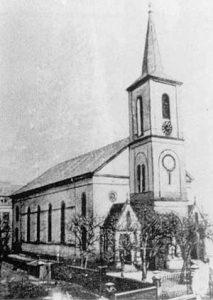 Die erste Sankt Eligius Kirche wurde am 25. Juni 1848 feierlich eingerichtet.