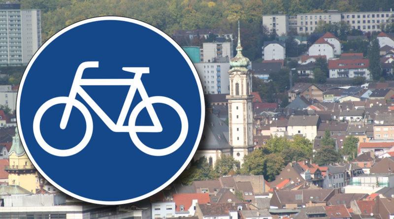 """Symbolbild """"Fahrradweg"""" (Hell)"""