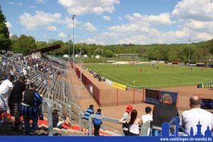 Nur knapp über 1000 Zuschauer wollten den 1. FC Saarbrücken gegen Bahlingen spielen sehen (Foto: Hell)