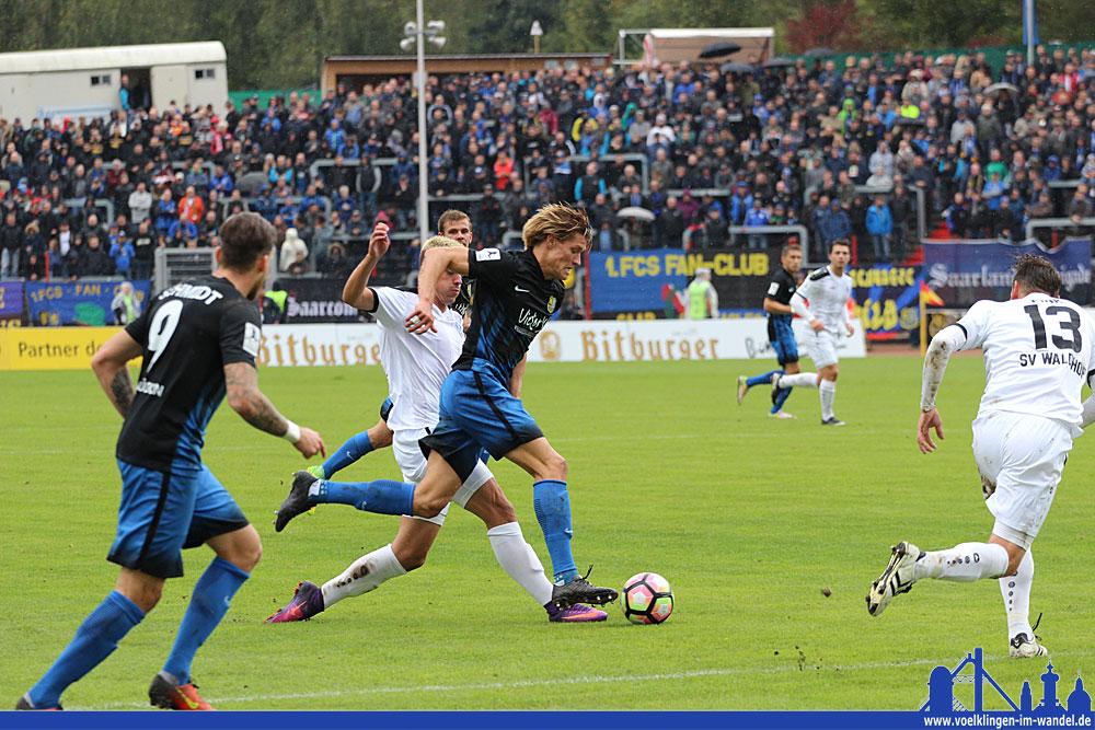 Behrens zeigte nach seiner Gelb-Sperre wieder sein Kämpferherz: Er gibt keinen Ball kampflos auf (Foto: Hell)