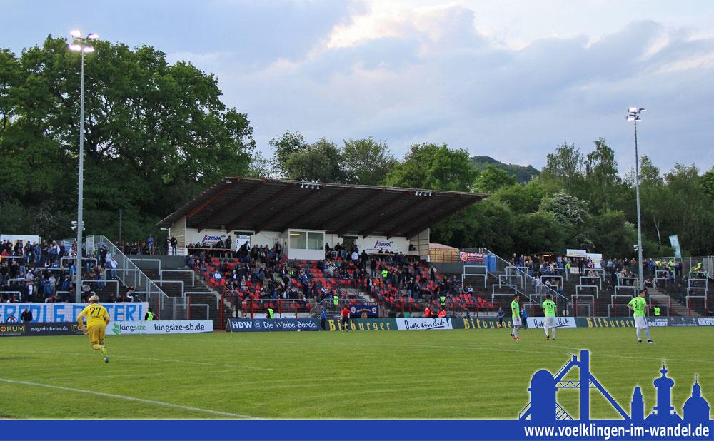 Nur rund 1600 Zuschauer wollten das Saarderby zwischen dem FCS und Homburg sehen (Foto: Hell)