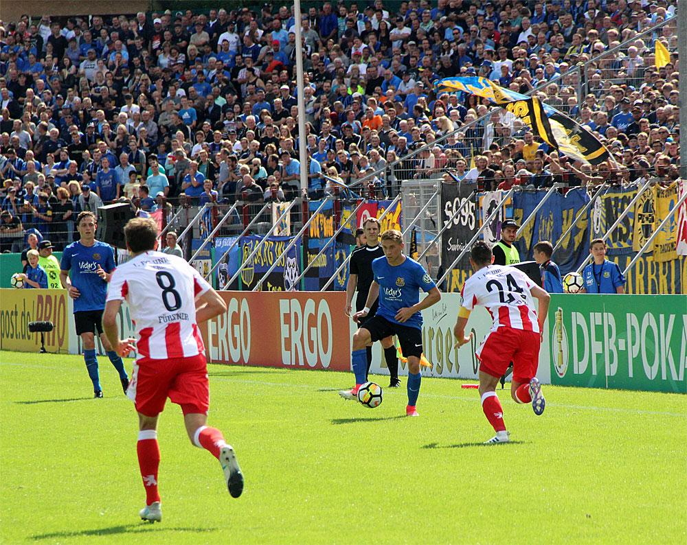 1. FC Saarbrücken gegen 1. FC Union Berlin - DFB-Pokal 2017/18 1. Runde (Foto: Hell)
