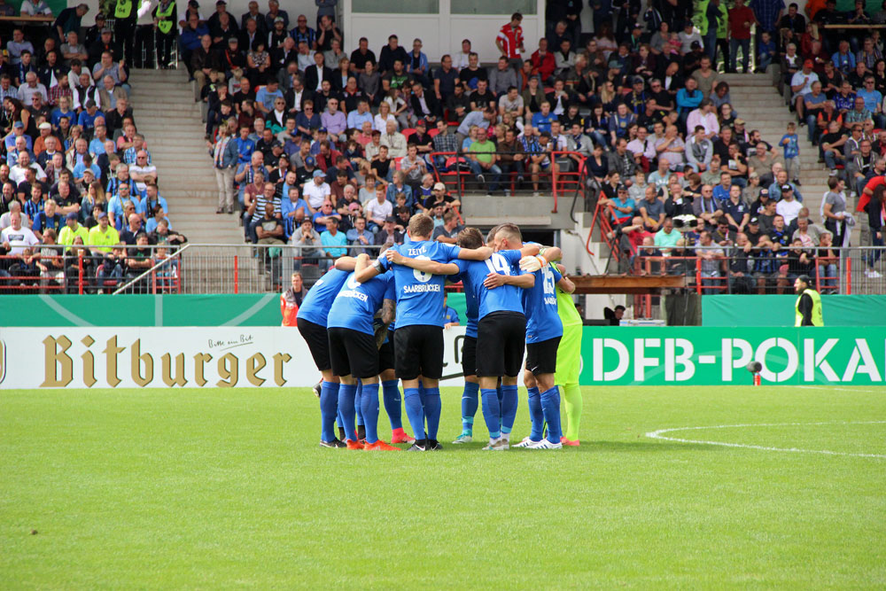 Die Lottner-Elf weiß: Gewinnen können sie gegen den Zweitligisten Union Berlin nur als Team (Foto: Hell)