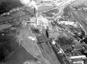 Blick auf das Kraftwerk Fenne zu dieser Zeit