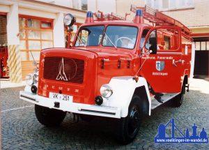 Das Fahrzeug bei einem Fototermin 1995
