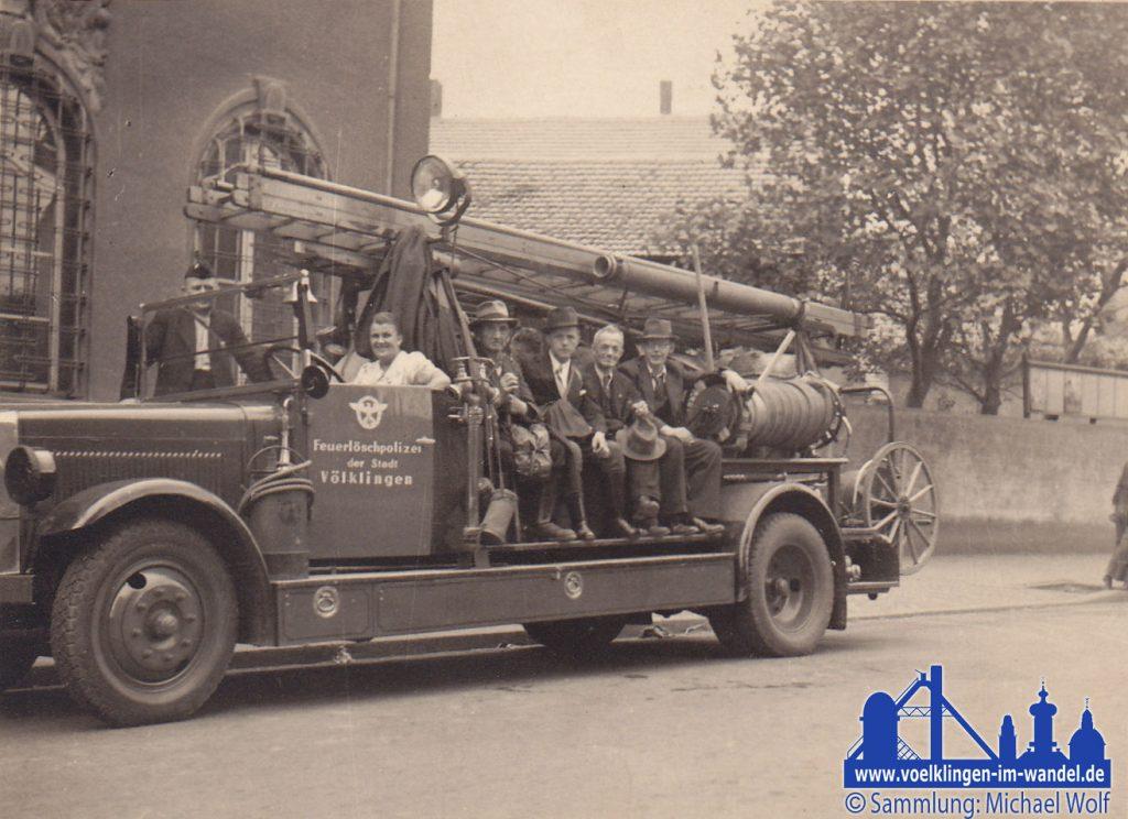 Ein Fahrzeug der Feuerlöschpolizei der Stadt Völklingen © Michael Wolf