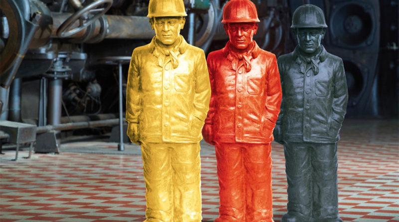 Ottmar Hörl: Second Life, 100 Hüttenarbeiter im Weltkulturerbe Völklinger Hütte Copyright: Ottmar Hörl/Weltkulturerbe Völklinger Hütte/Tom Gundelwein