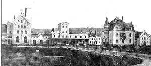 Blick zur Schlossbrauerei ca. 1903