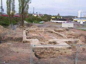 Die Ausgrabungen im Alten Brühl legten die Grundmauern der alten Martinskirche wieder frei