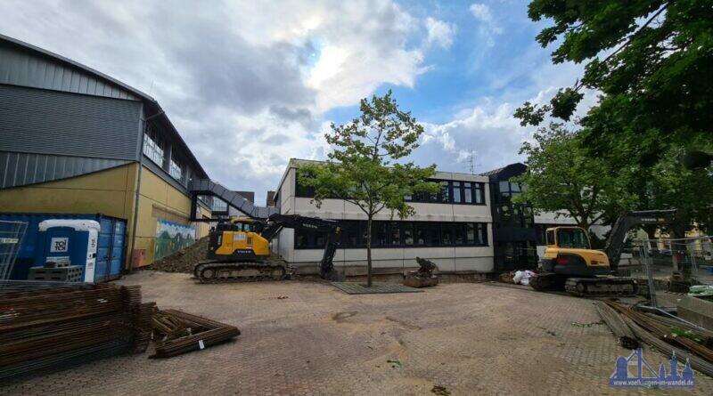Baustelle an der Grundschule Bergstrasse