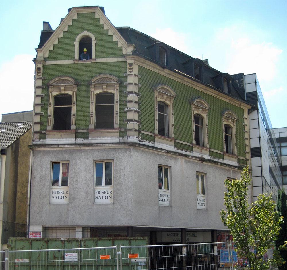 """Das """"Haus Blandin"""" wurde bereits bei der ersten Abrissphase dem Erdboden gleich gemacht (Foto: D. Strempel)"""