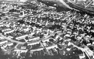 Luftbild des Heidstocks 1970 (Stadtarchiv)
