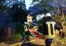 Heidstock: Haus brennt lichterloh und bis auf die Grundmauern nieder