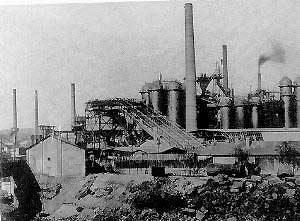 Hochofenanlage 1918 (Quelle: Saarstahl AG)