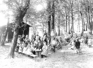 Hüttensommerfrische 1896 (Quelle: Saarstahl AG)