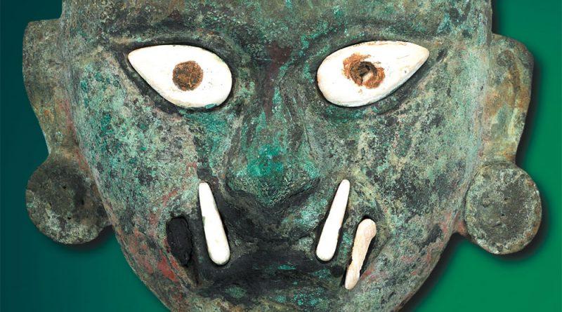 Maske der obersten Gottheit Kupfer Vor-Inka Moche-Kultur, 100 bis 600 n. Chr., Höhe 17,5 cm Larco Museum Peru Copyright: Weltkulturerbe Völklinger Hütte/Hans-Georg Merkel