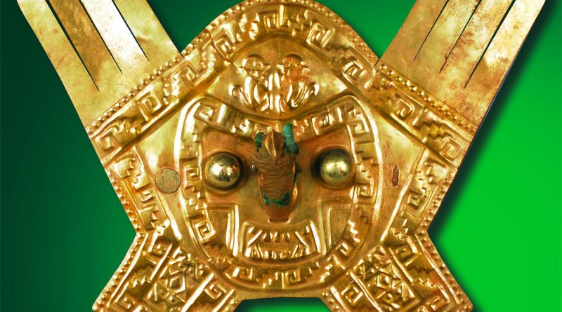 Kronenaufsatz eines Priesterfürsten Vor-Inka Chimú-Kultur, 1.100 bis 1.470 n. Chr. Gold, Höhe 25 cm Larco Museum Peru Copyright: Weltkulturerbe Völklinger Hütte/Hans-Georg Merkel