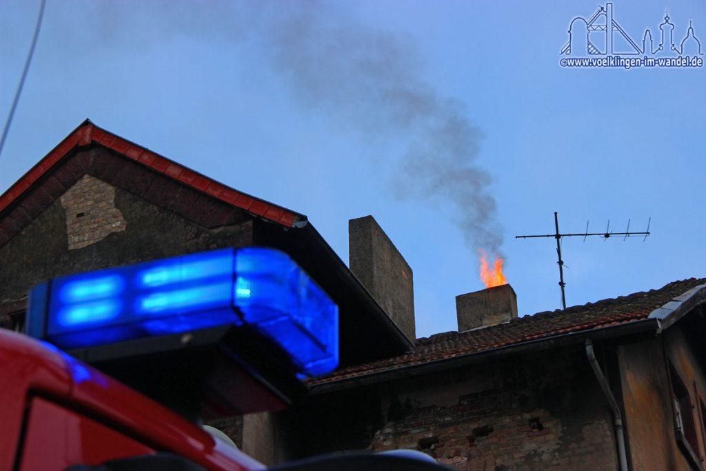 Ein Kaminbrand in Völklingen (Symbolfoto)
