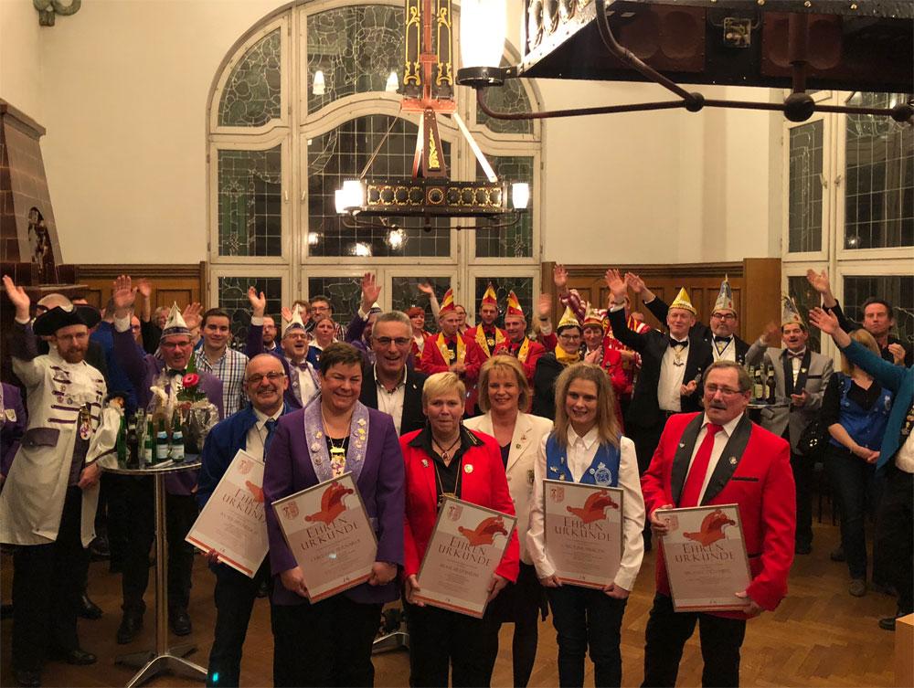 Stadt Völklingen kürt fünf Völklinger Karnevalisten zu Narren des Jahres (Foto: Stadt;Hüsslein)