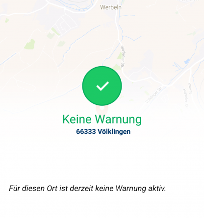 "Gestern ging im Saarland das Bevölkerungswarnsystem ""KATWARN"" in Betrieb. (Screenshot)"