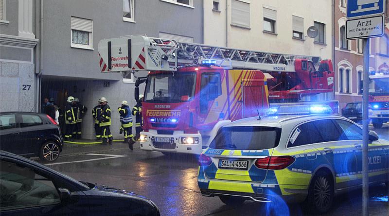 Kellerbrand in Völklingen (Foto: Hell)