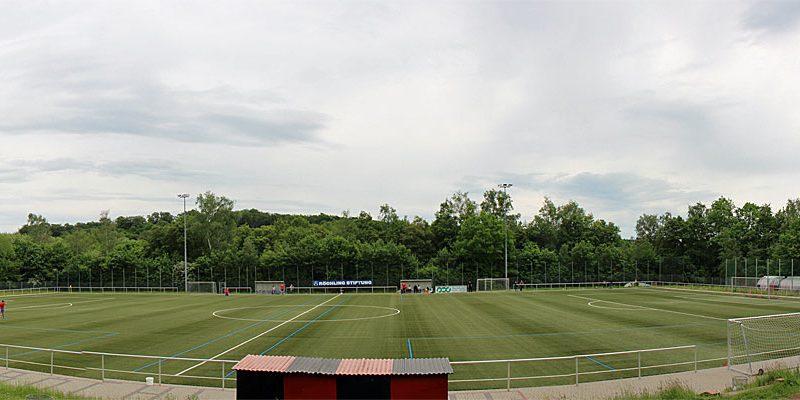 Der Kunstrasenplatz hinter dem Hermann-Neuberger-Stadion (Foto: Hell 2016)