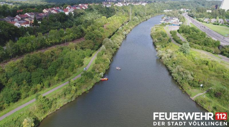Der Fundort aus der Luft - Foto: Feuerwehr Völklingen/Quadrokopter