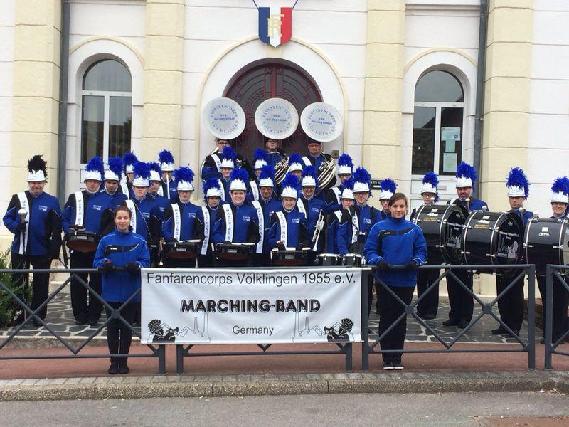 Auch in Frankreich unterwegs: Die Marching Band Völklingen (Foto: Verein)