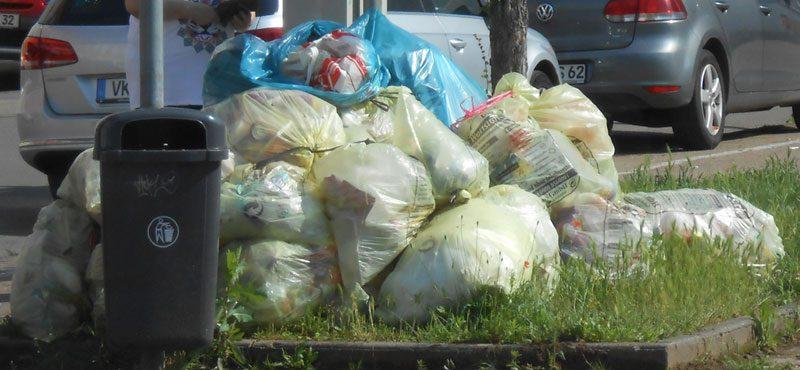 Alle 14 Tage häufen sich in Völklingen die Müllberge zur Abfuhr - nur bleiben sie zu oft liegen! (Foto: Privat)