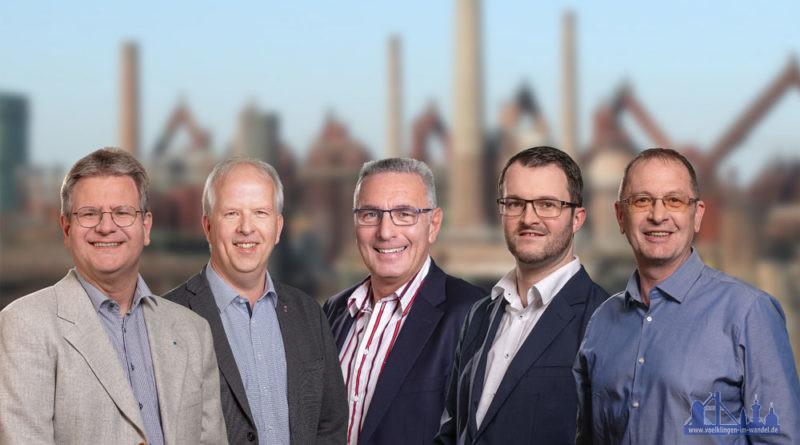 von links nach rechts: Dieter Pick, Heiko Schlang, Uwe Steffen, Andreas Hell, Arnd Ruppenthal