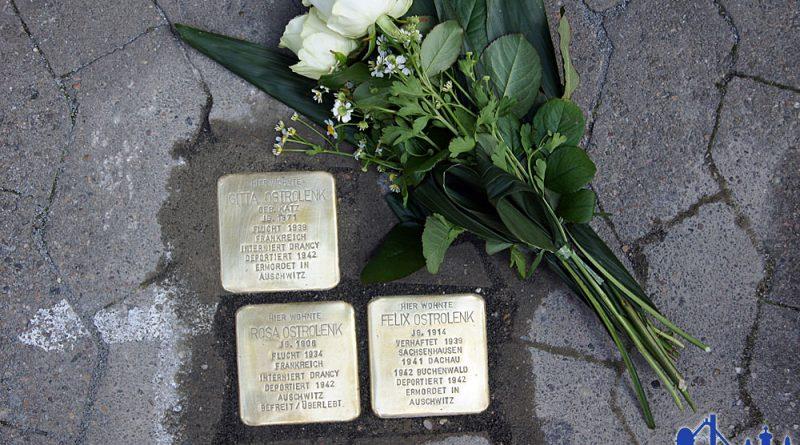 Stolpersteine für die Familie Ostrolenk. © Patric Bies