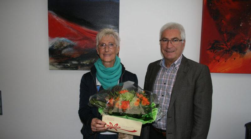 Elvira Richter und OB Klaus Lorig (Foto: Stadt VKL)