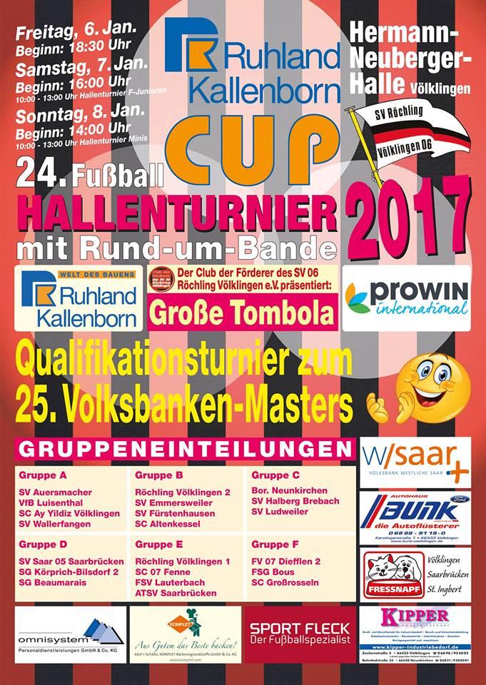 Ruhland-Kallenborn-Cup vom 06.01. - 08.01.2017 in der Hermann-Neuberger-Halle