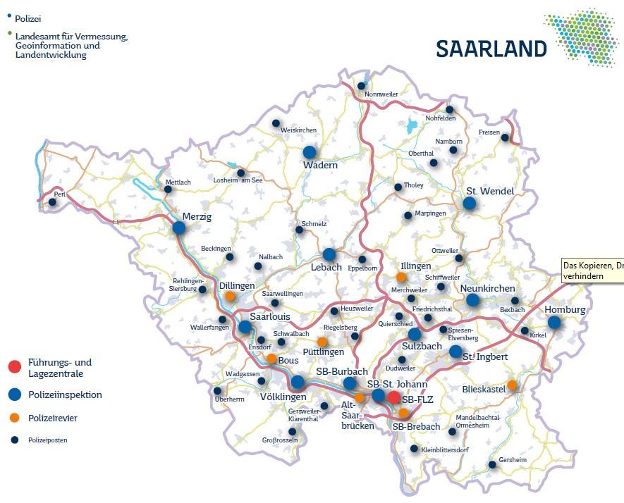 Zwölf Polizeiinspektionen, sieben Polizeireviere und 38 Polizeiposten sorgen für Sicherheit
