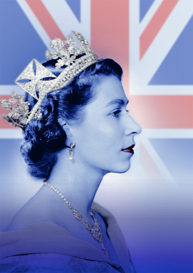 "Die Ausstellung ""Legende Queen Elisabeth II. Sammlung Luciano Pelizzari"" im Weltkulturerbe Völklinger Hütte Foto: Queen Elisabeth II by Dorothy Wilding, 26. Februar 1952 © William Hustler and Georgina Hustler / National Portrait Gallery, London"