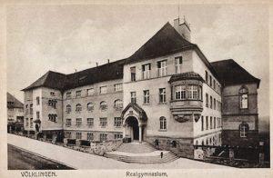 Alte Ansicht des Realgymnasiums in Völklingen