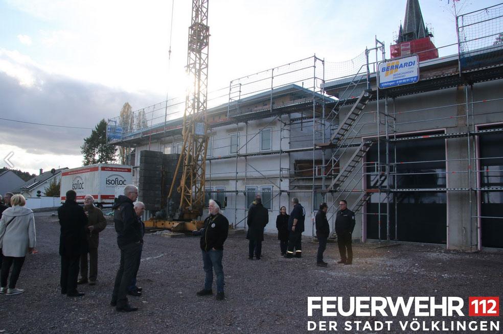 Richtfest am neuen Gerätehaus der Feuerwehr in Geislautern (Foto: Freiwillige Feuerwehr Völklingen)