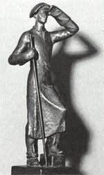 Statue eines Hüttenmannes, die Hermann Röchling anläßlich der Verleihnung des Siemensrings erhielt. - Quelle: Die Gründerfamilie Röchling