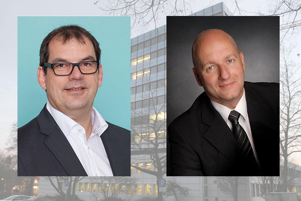 Diese beiden Bewerber haben auf Grund ihrer Parteizugehörigkeiten die besten Chancen: Erik Roskothen (SPD/Foto: SPD) und Christof Sellen (CDU/Foto: Privat)
