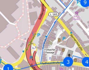 Kartenausschnitt - Karten-Rohmaterial: Daten von OpenStreetMap - Veröffentlicht unter ODbL