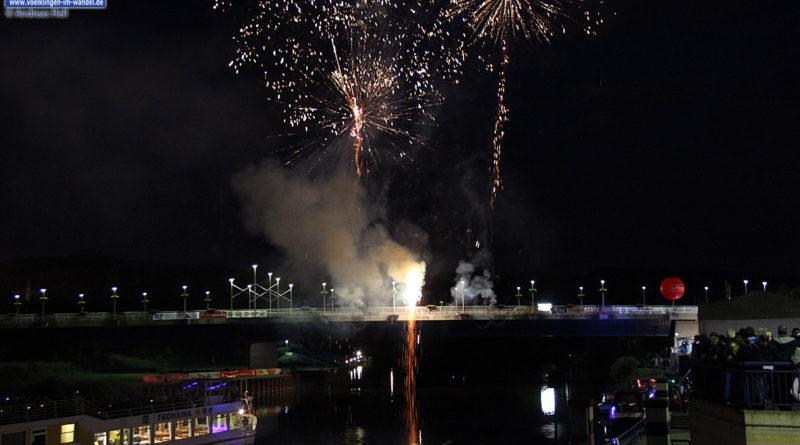 Feuerwerk auf dem Saarfest (Archiv)