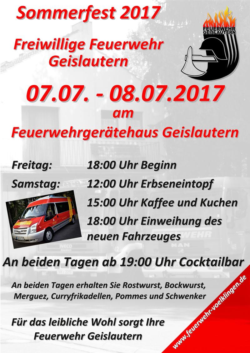 Sommerfest der Feuerwehr Geislautern