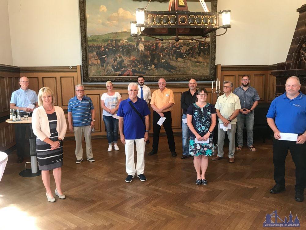Spendenübergabe Konzertmuschelverein (Stadt Völklingen, Lars Hüsslein)